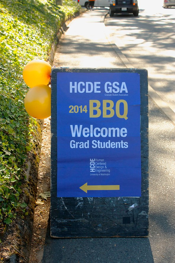 HCDE BBQ Sign