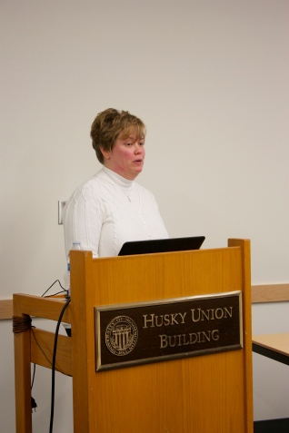 Susan Todd presented after Alex and discussed how to create a portfolio as a UX researcher.