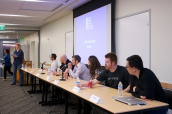 After the presentations, we had our UX panel.